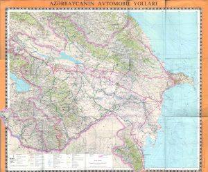 Azerbaycanin avtomabil yollari xeritesi