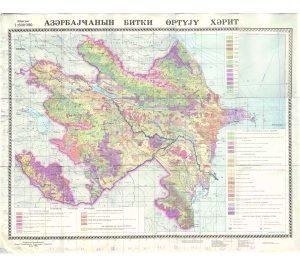 Azerbaycanin bitki ortuyu xeritesi