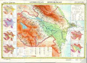 Azerbaycanin fiziki xeritesi