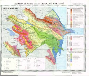 Azerbaycanin geomorfoloji xeritesi