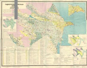 Azerbaycanin hidroloji xeritesi