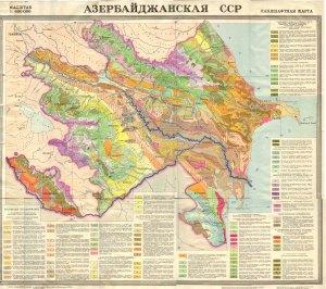 Azerbaycanin landşaft xeritesi