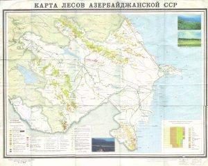Azerbaycanin meşeler xeritesi