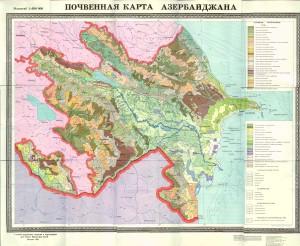 Azerbaycanin torpaq xeritesi